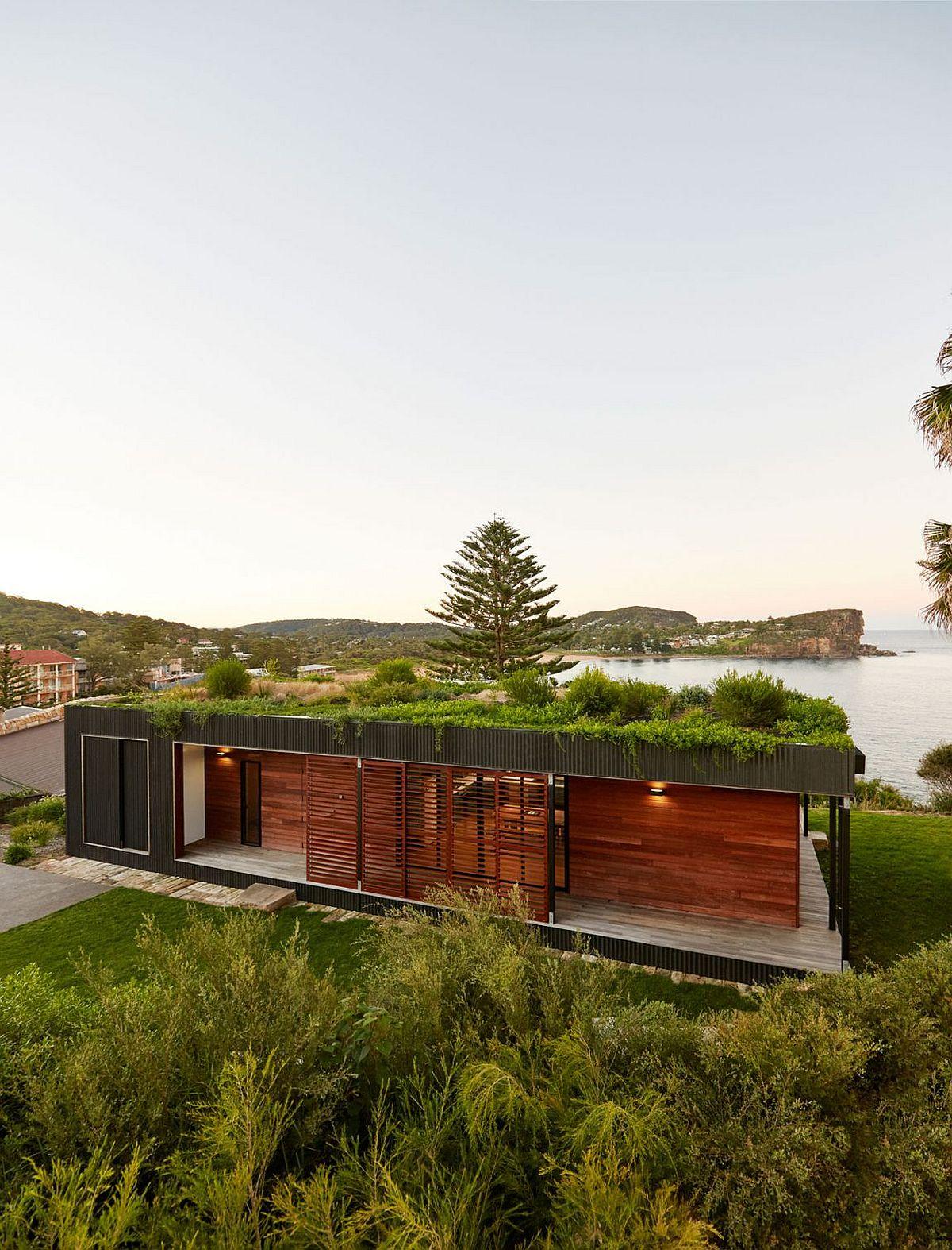Modern sustainable modular home designed to cause minimal eco-impact