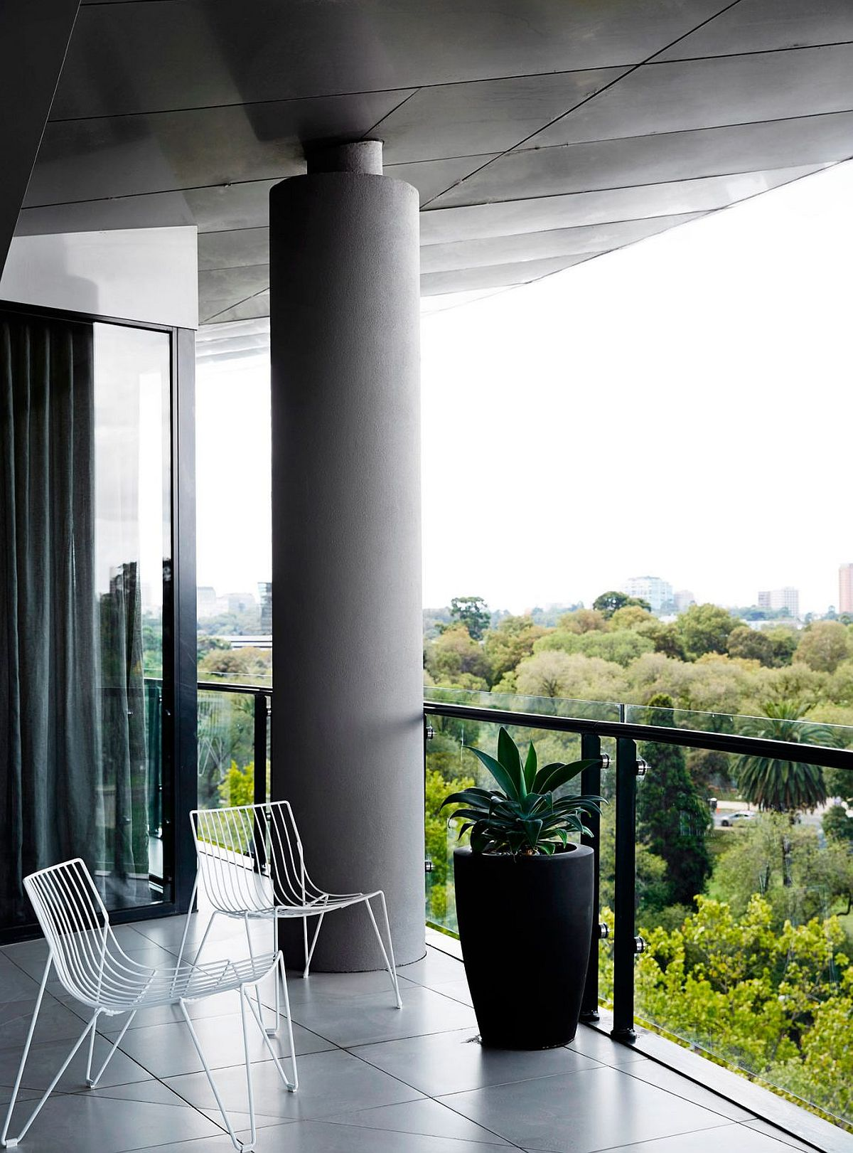 View of the city from the balcony of the revamped home in Melbourne