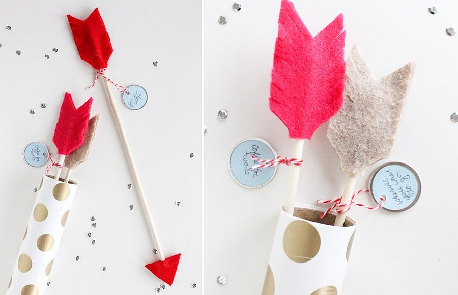 Bring the touch of Cupid to Valentine's Day celebrations with DIY Arrows
