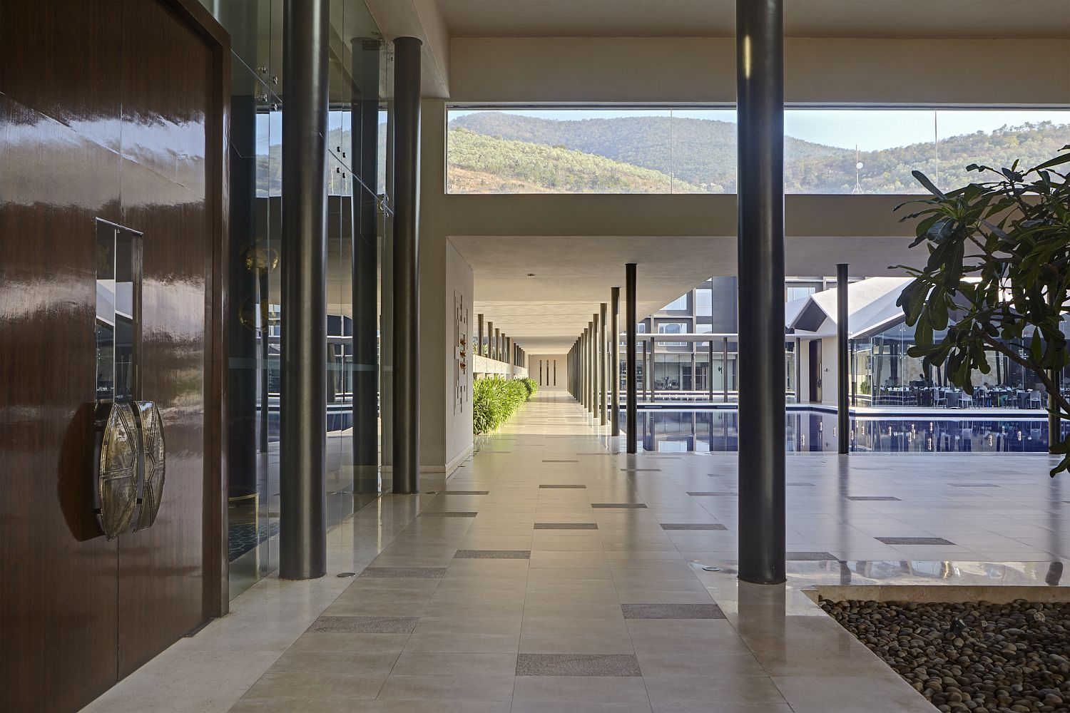 Lavish hotel in Tirupati with a central courtyard, pool, waterbody and spa