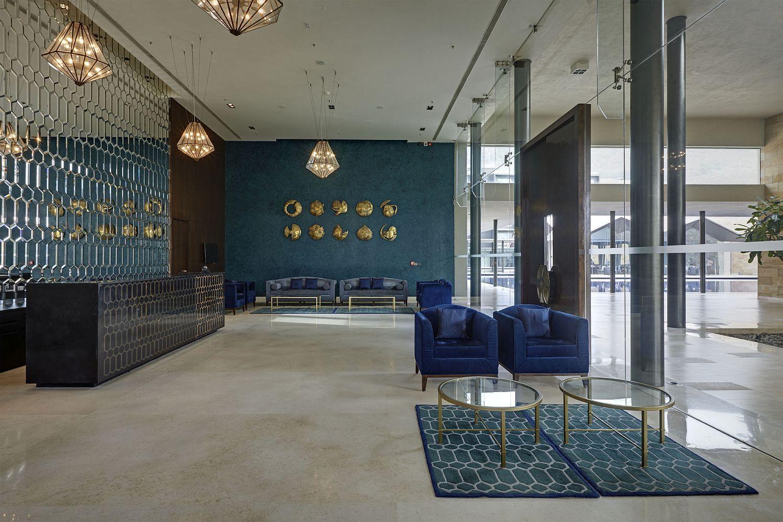 Lobby of the luxury hotel Dasavatara in Tirupati