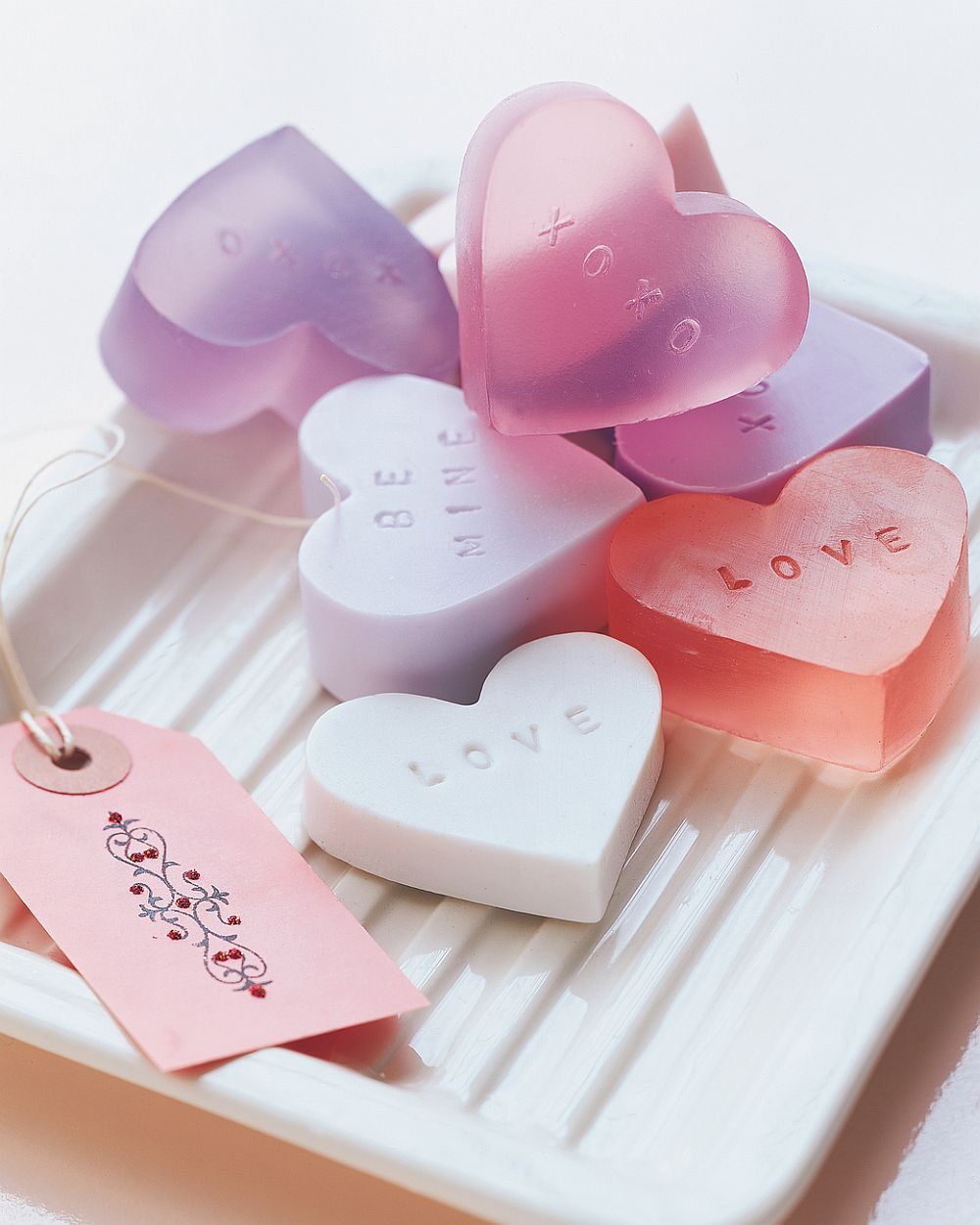 Take your Valentine's Day Celebration into the Bath with these DIY heart-shaped soaps
