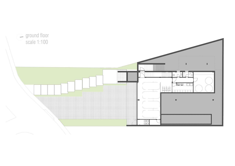 Garage level floor plan of Bravos House