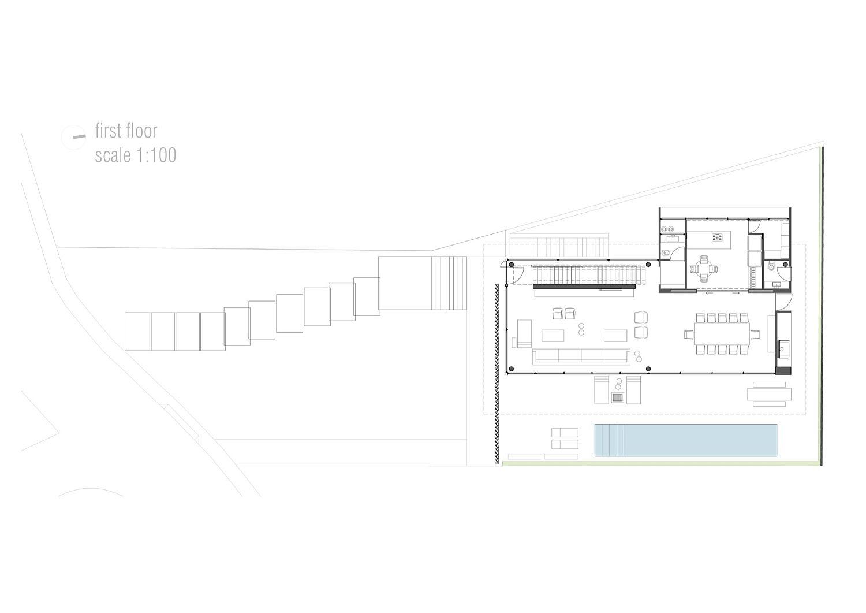 Ground level floor plan of Bravos House in Santa Catarina, Brazil