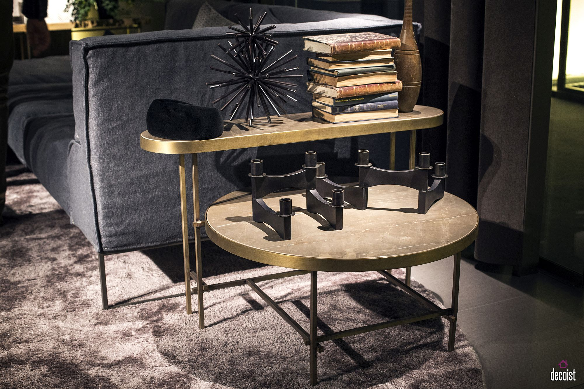 Combine different end tables to create geo style