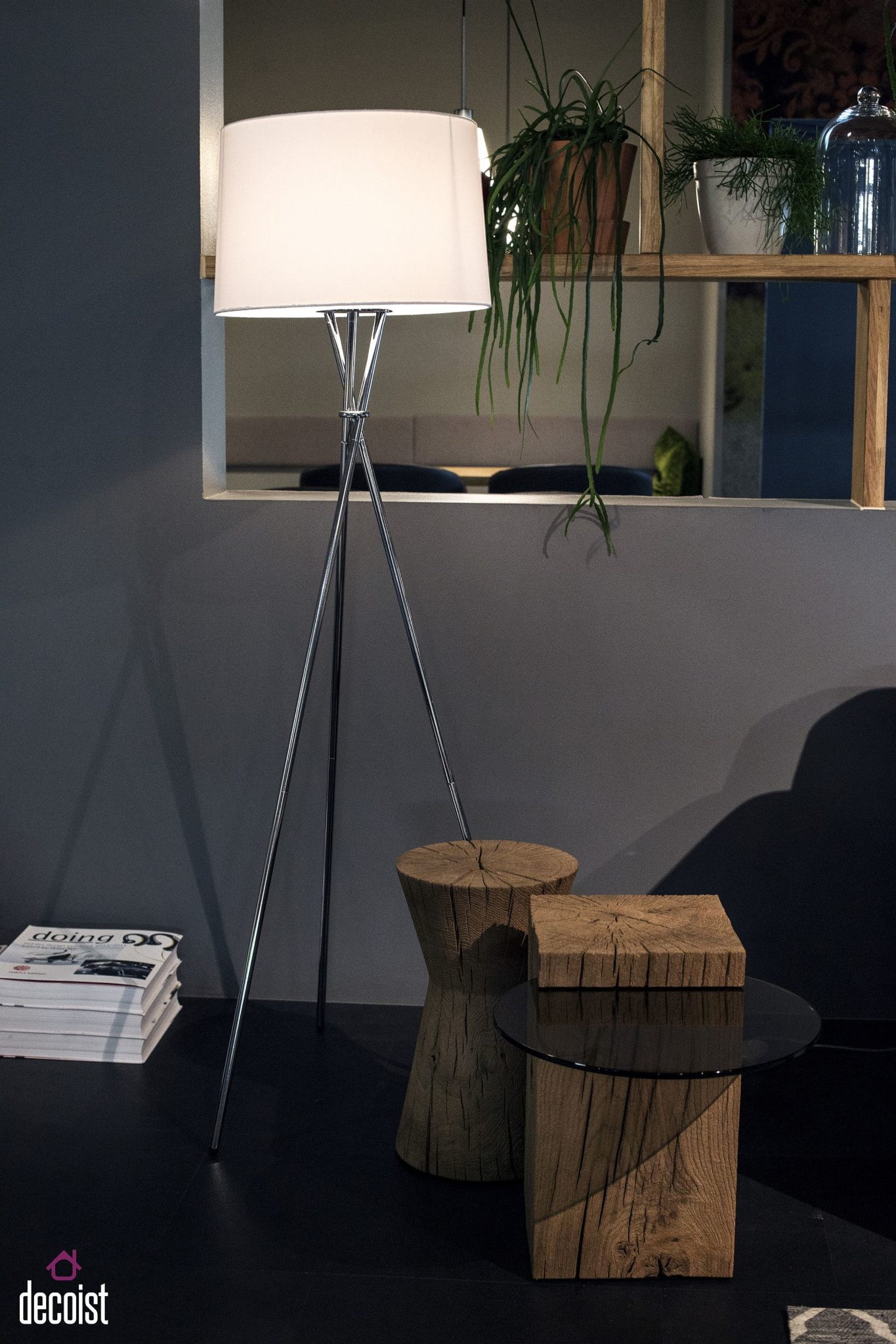 Innovative wood and glass end tables from ponsel