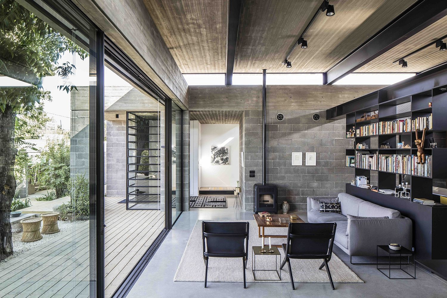 Open living room and lounge of contemporary family home in Israel