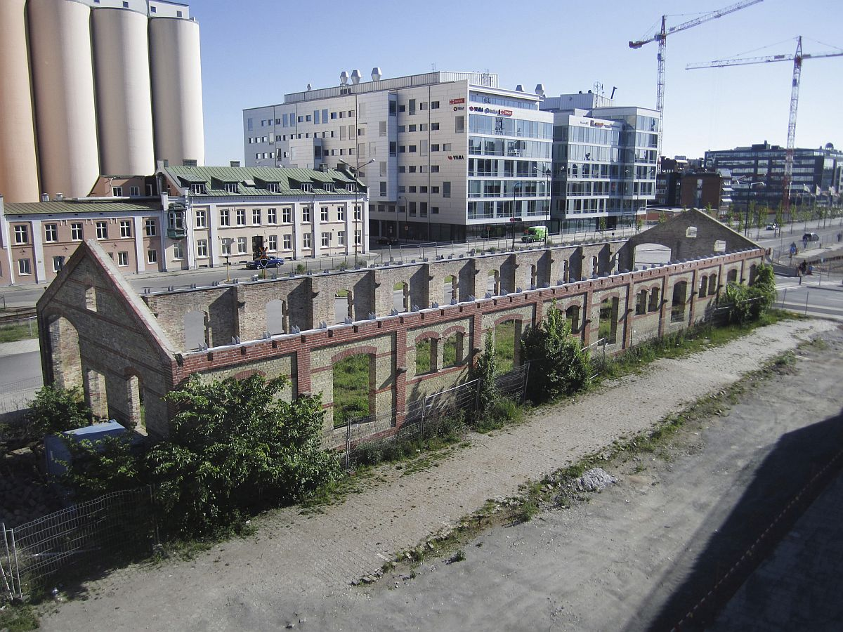 Old and discarded industrial building turned into market hall