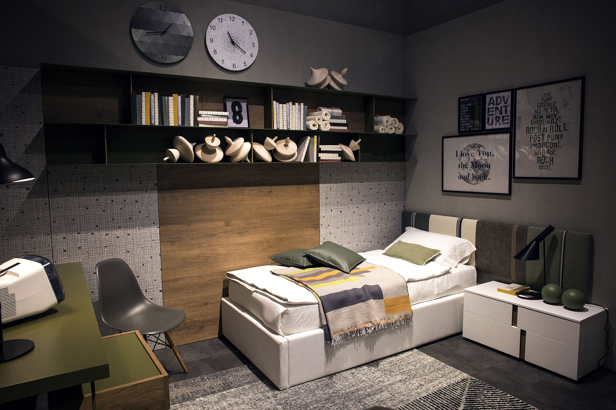 Smart bedroom design relies on spatial arrangment and space-savvy furniture