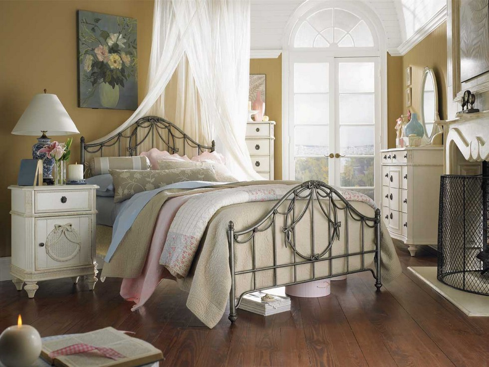 Vintage kids room with a dreamy canopy