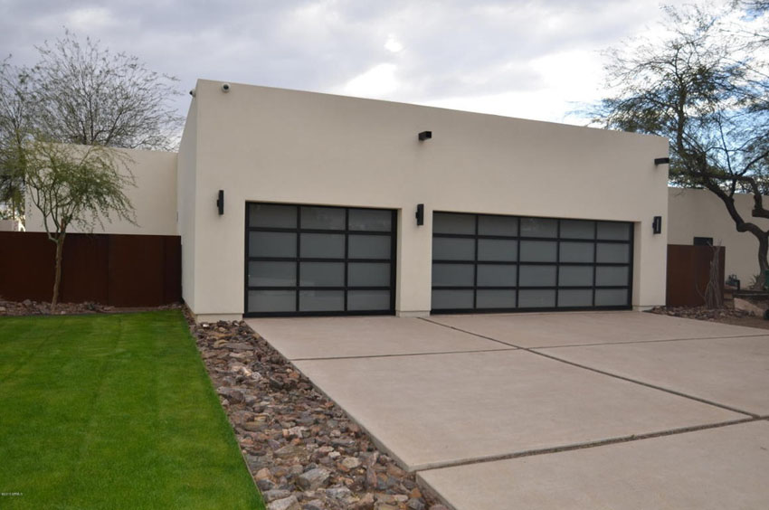 Modern driveway with clean lines