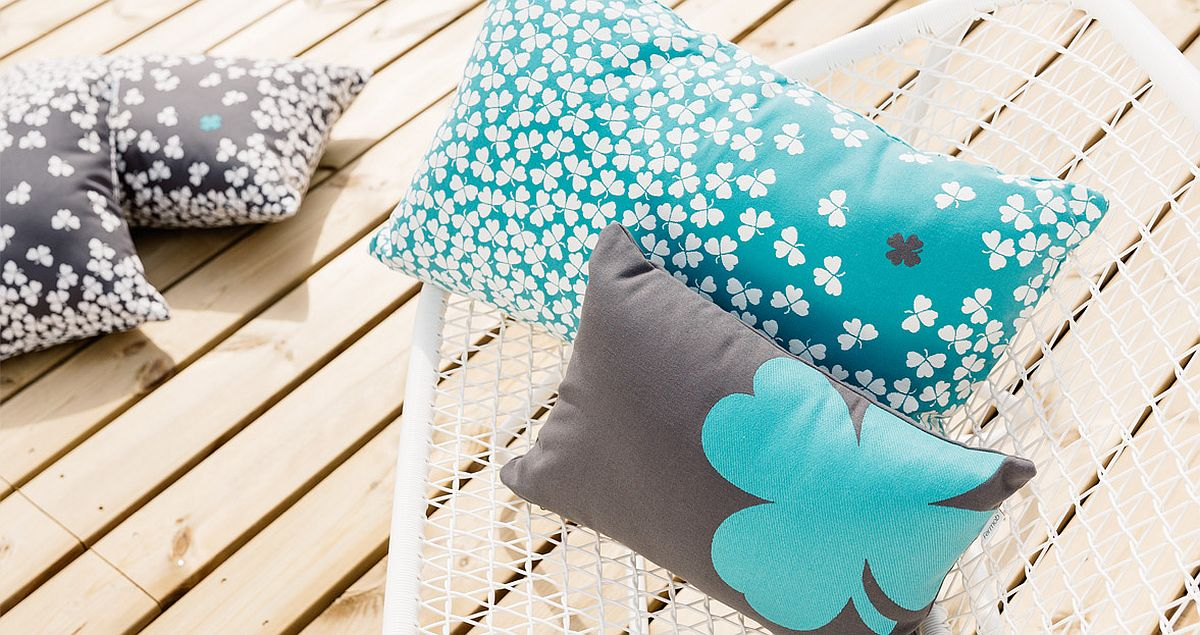 Finding the four-leafed clover is not too hard with these cushions!