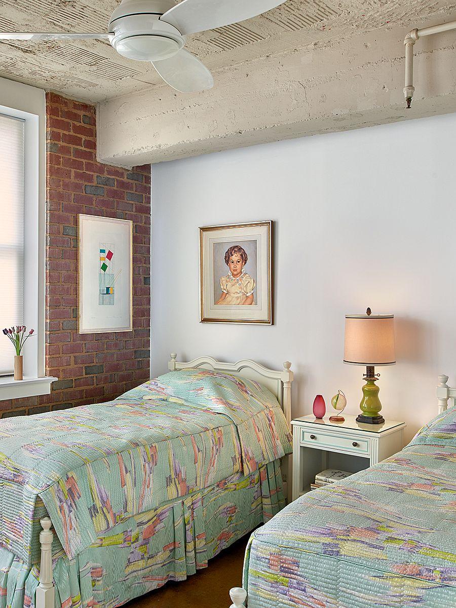 Modern industrial style kids bedroom