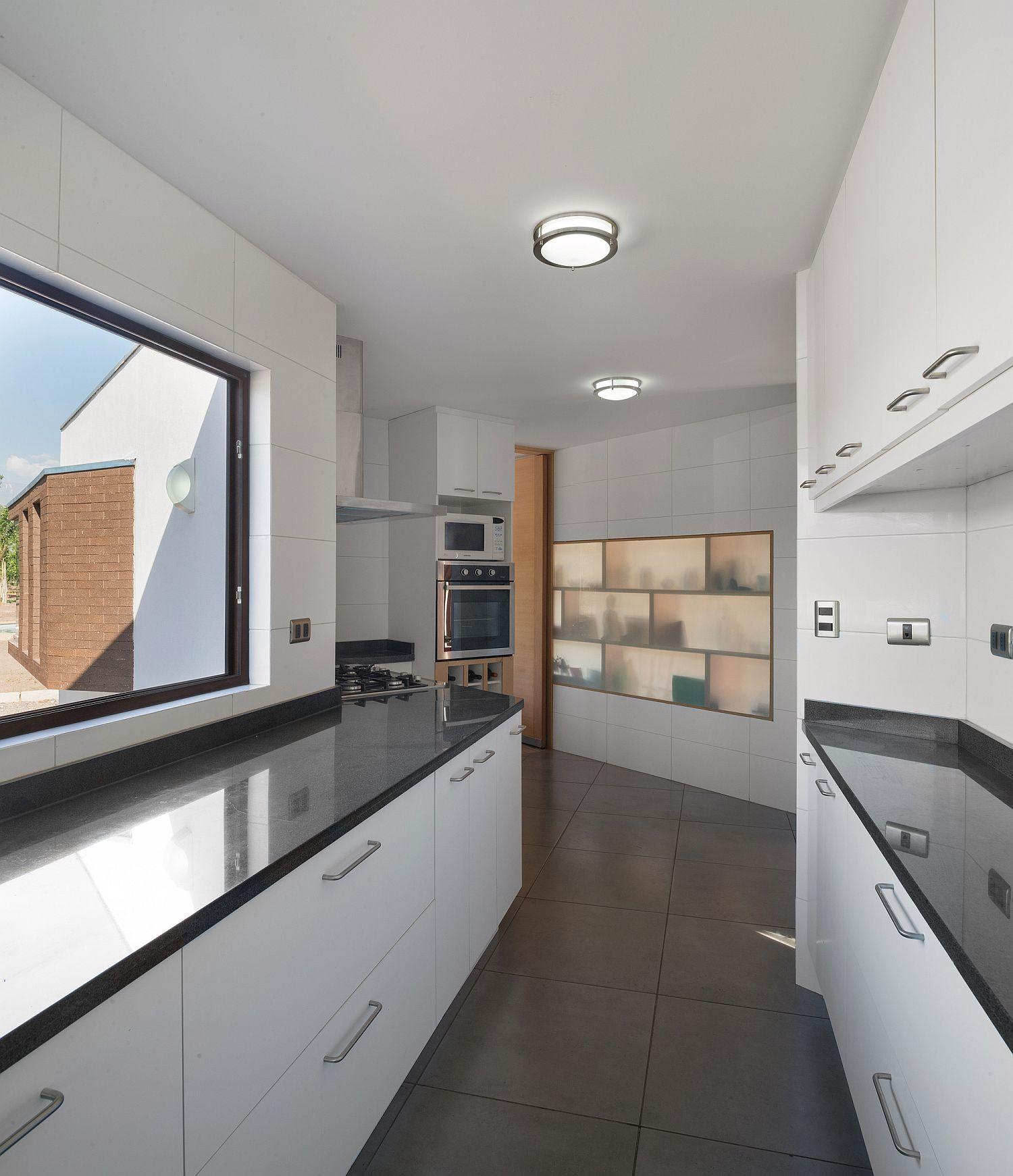 Unique contemporary kitchen in white