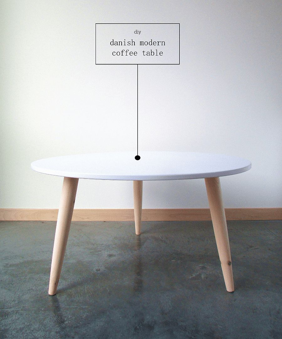 Chic DIY Danish Modern Coffee Table