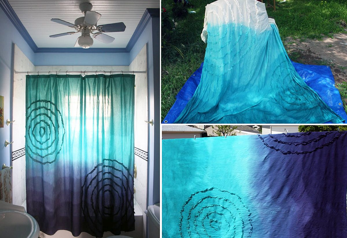 Dip Dyed Ombre Shower Curtain
