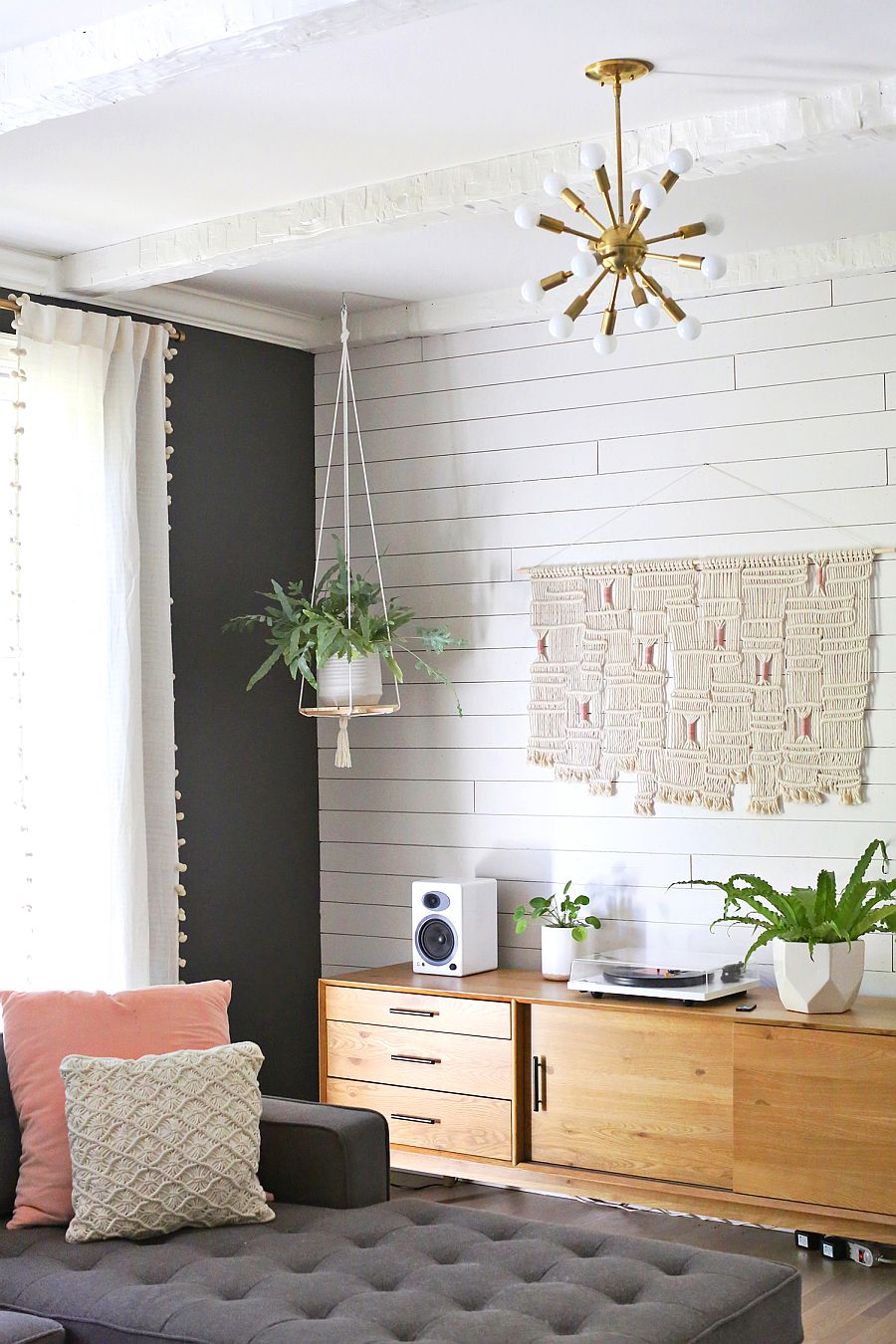 Hanging shelf can also be used as a plant stand