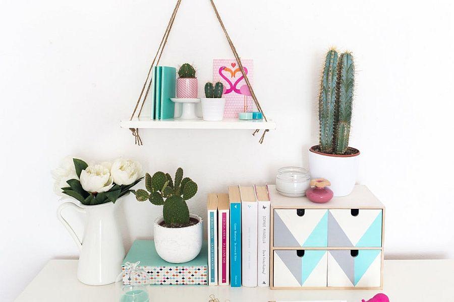 Modern swing shelf DIY