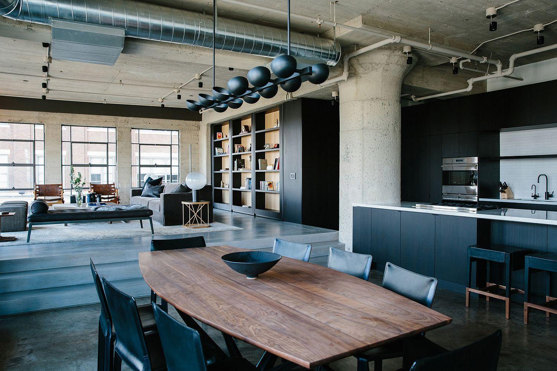 Renovated warehouse turned into a fabulous modern industrial loft in LA