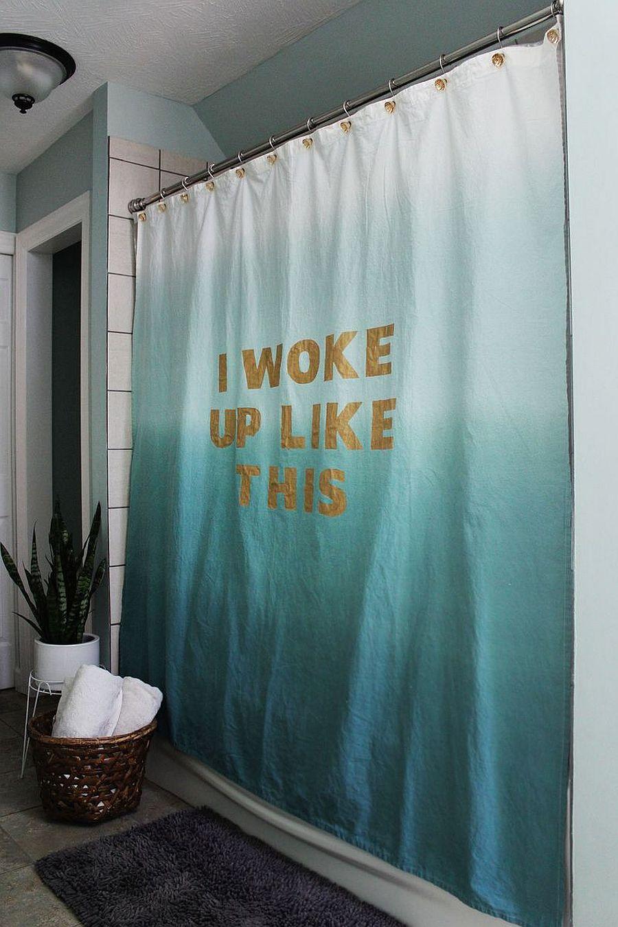 Statement DIY shower curtain