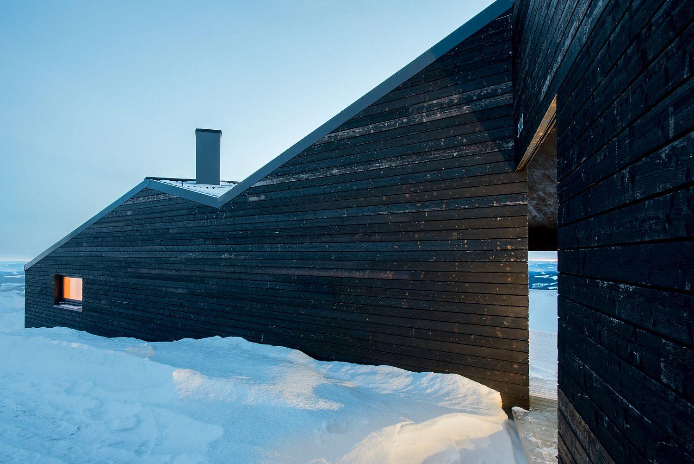 Geometric design of the cabin combines 12 individual triangular planes