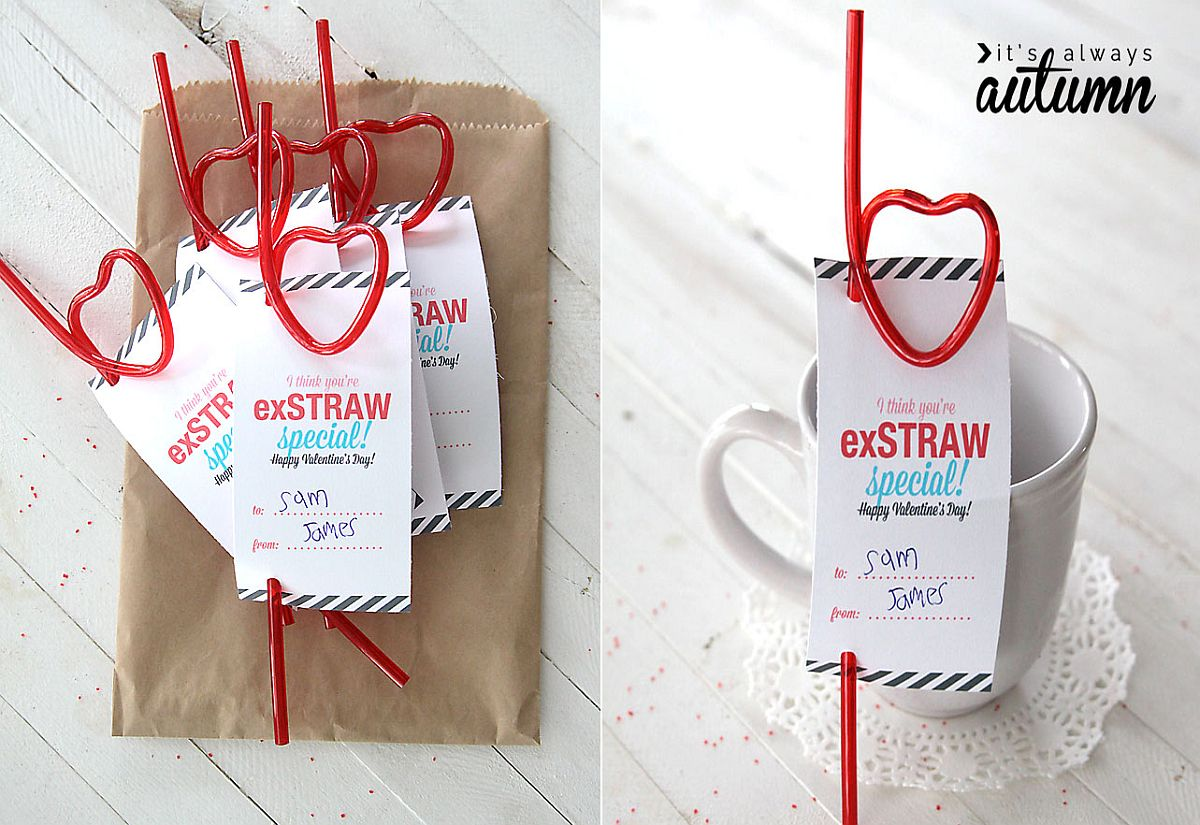 You're exSTRAW Special DIY Valentine's Day Card