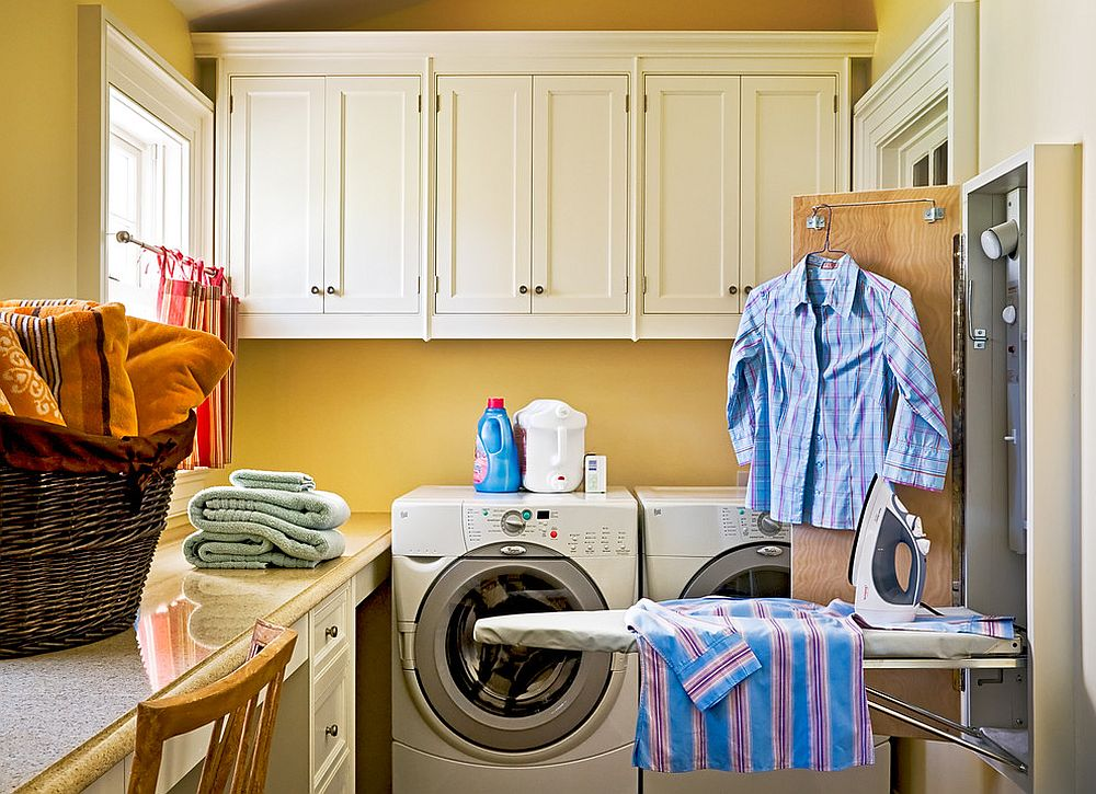 Organizing the traditional laundry room