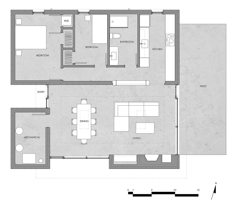 Floor plan of the Catskills House