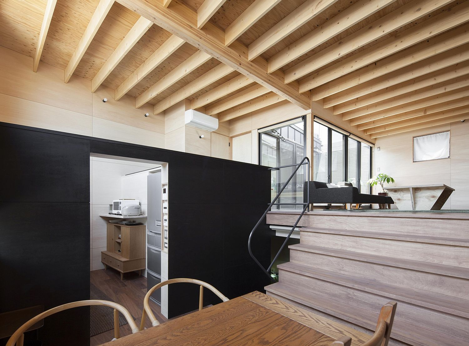Space-savvy kitchen and dining area of the Japanese home