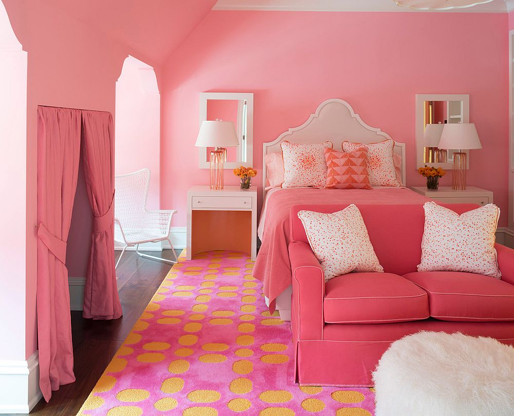 Finding the right style for pink and yellow bedroom