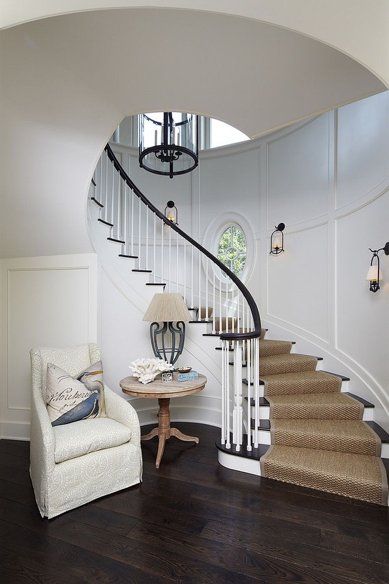 Gorgeous staircase for the grand entryway