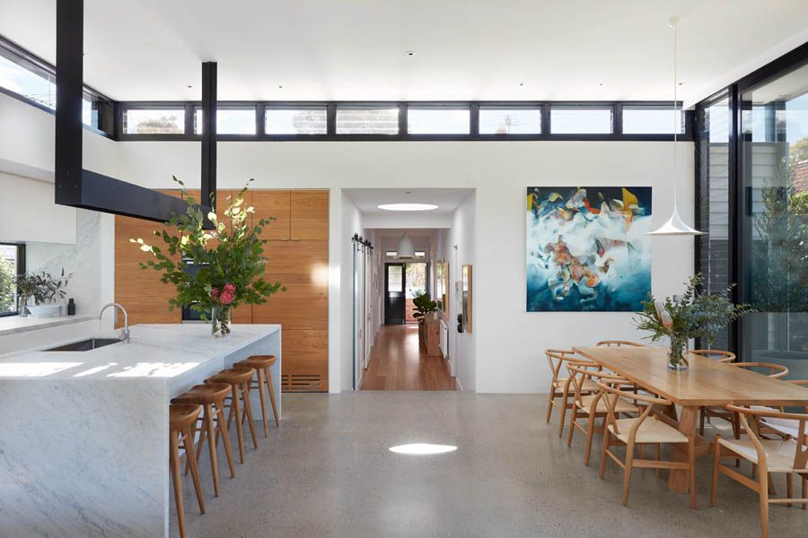 New and improved open plan living of the Melbourne home