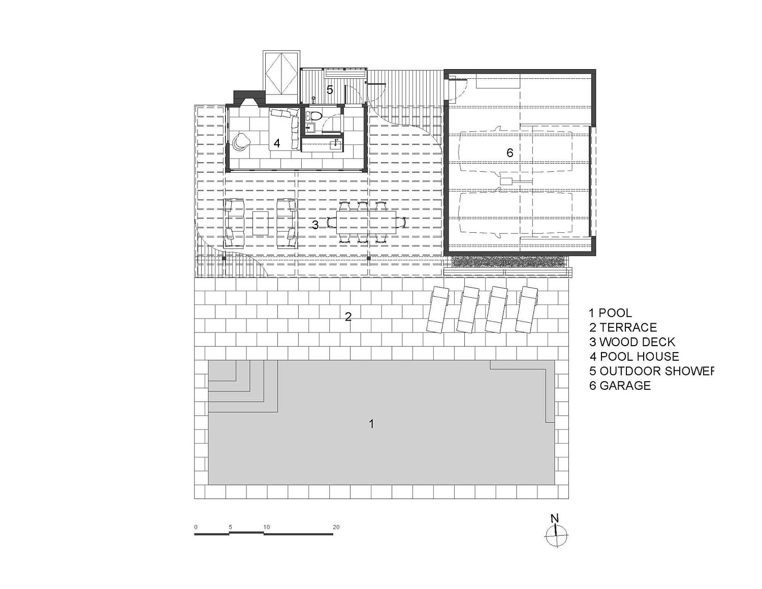 Overall plan and design of the pool house