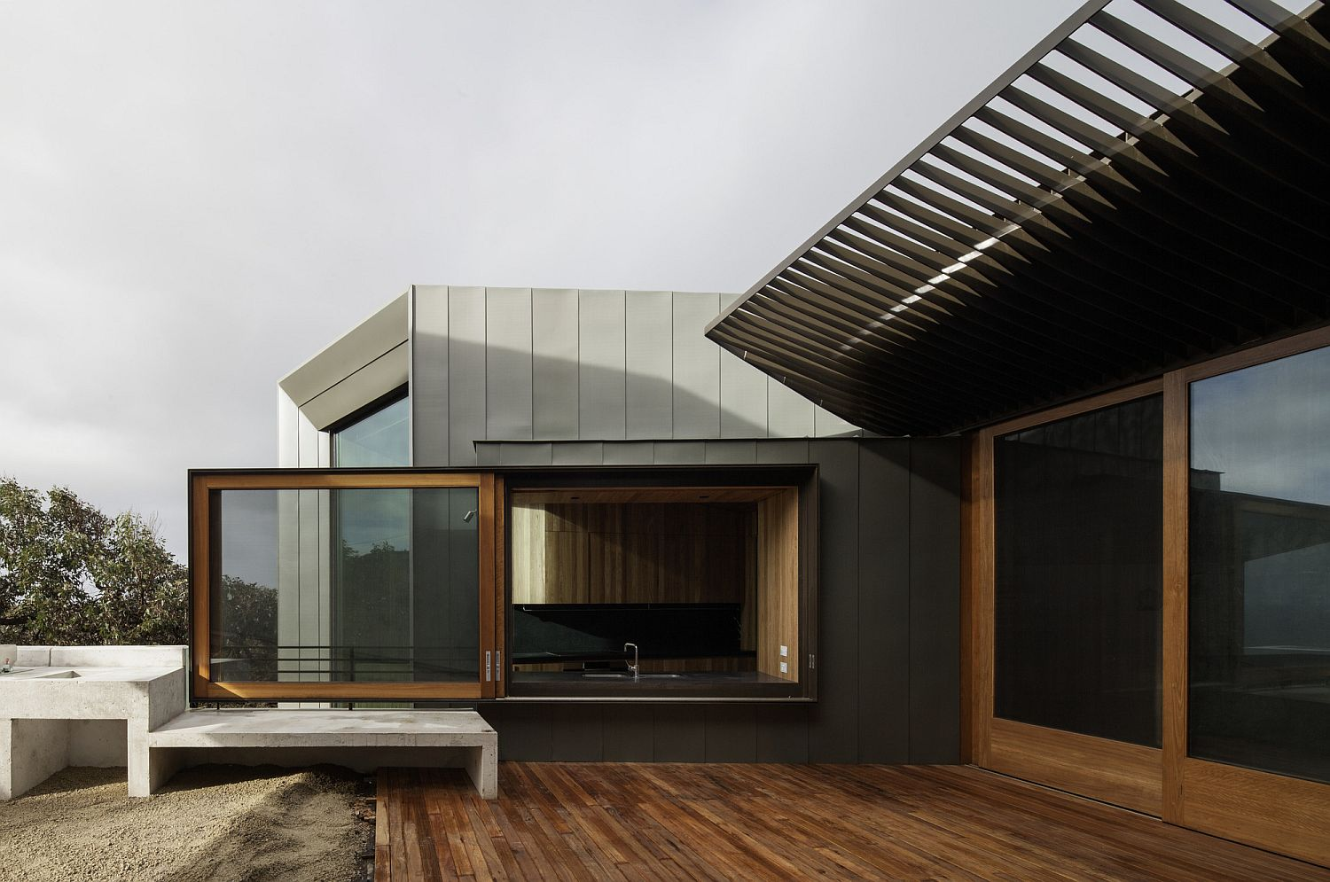 Design of the house feels like scenography with views framed beautifully