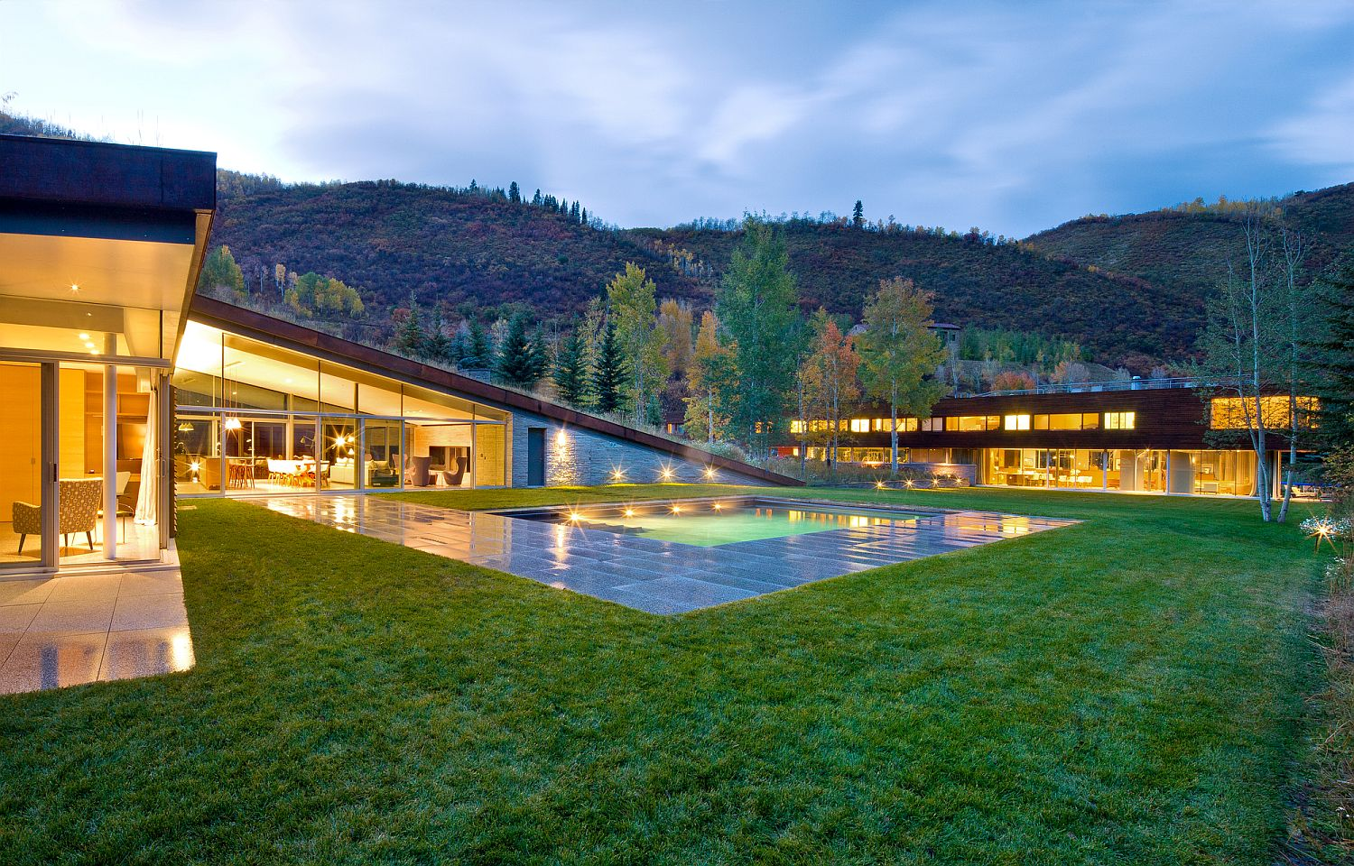 Two new stunning additions to the moutain home give it a green makeover