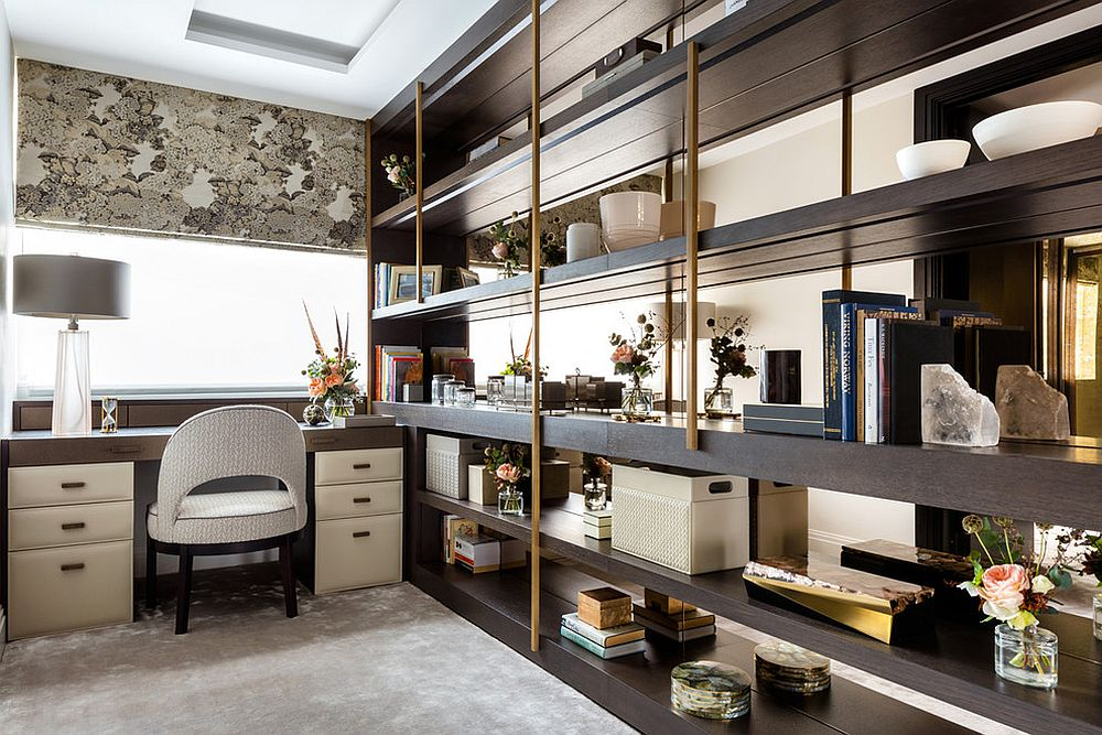 Use shelving as a room divider in the modern home with open plan living