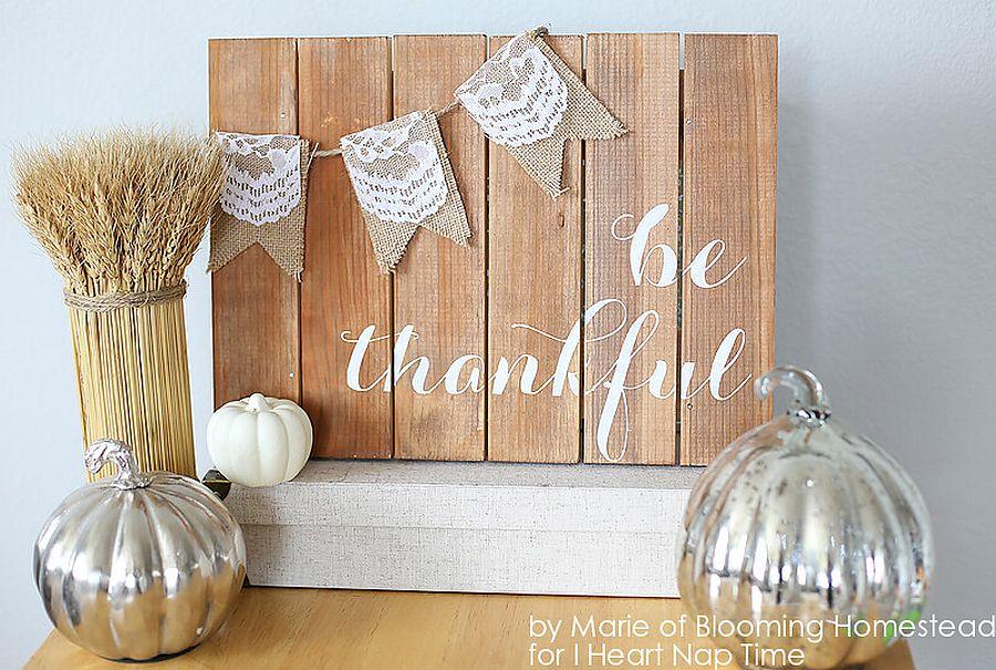 Be Thankful wooden board DIY
