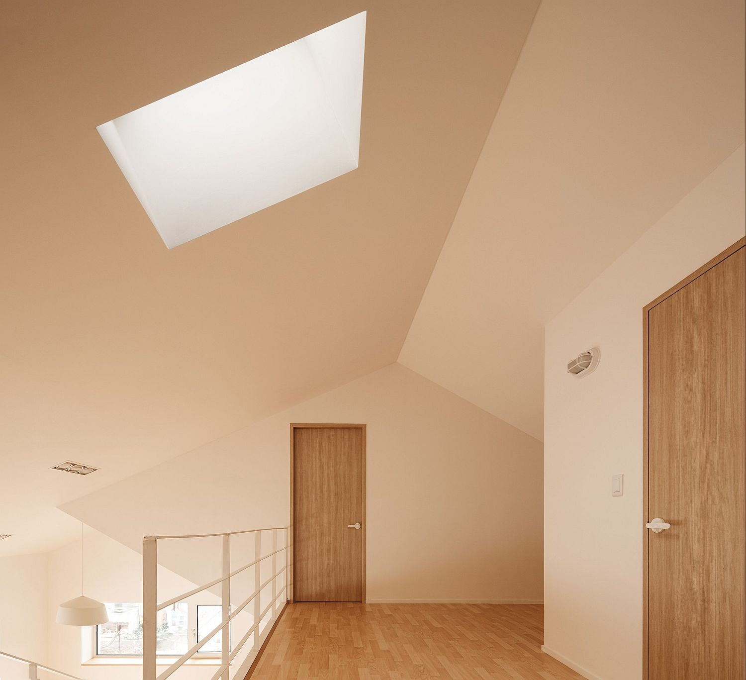 Skylight brings ample natural light into the house