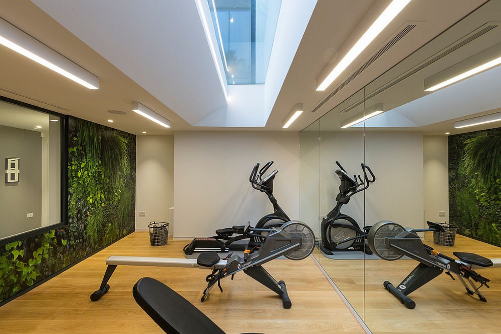 Home basement gym with ample lighting and right ventilation