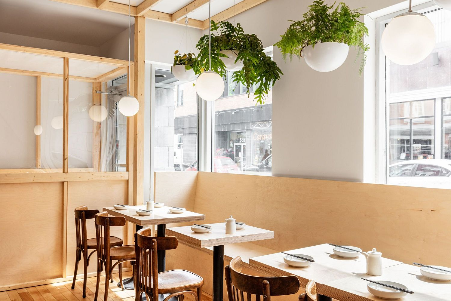 Large windows bring in ample light illuminating the diner