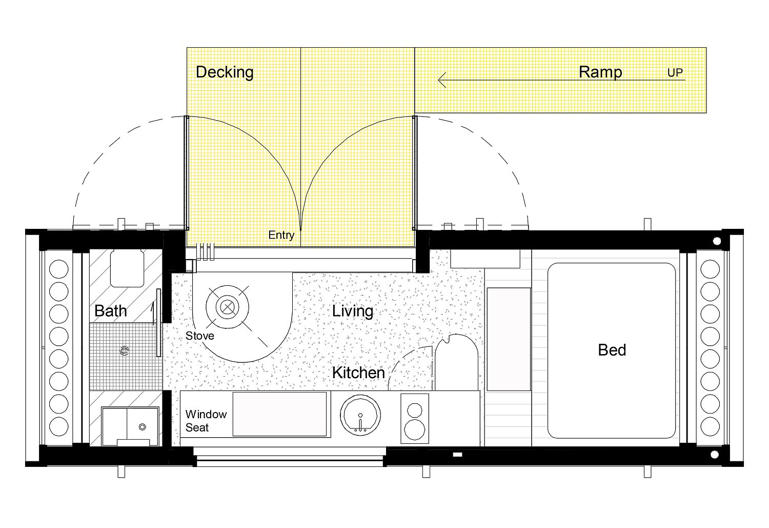 Floor plan of the Tiny Home