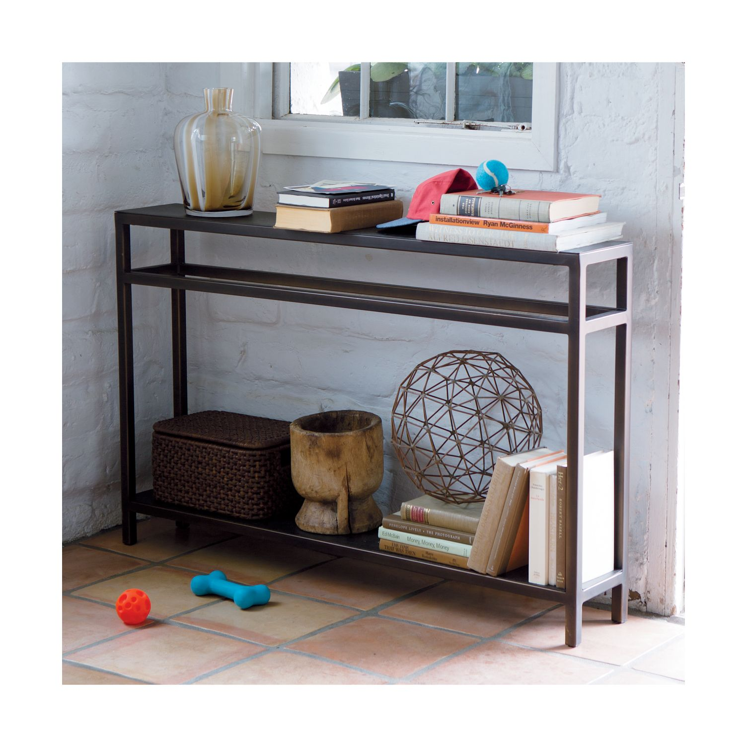 2-level entryway console table