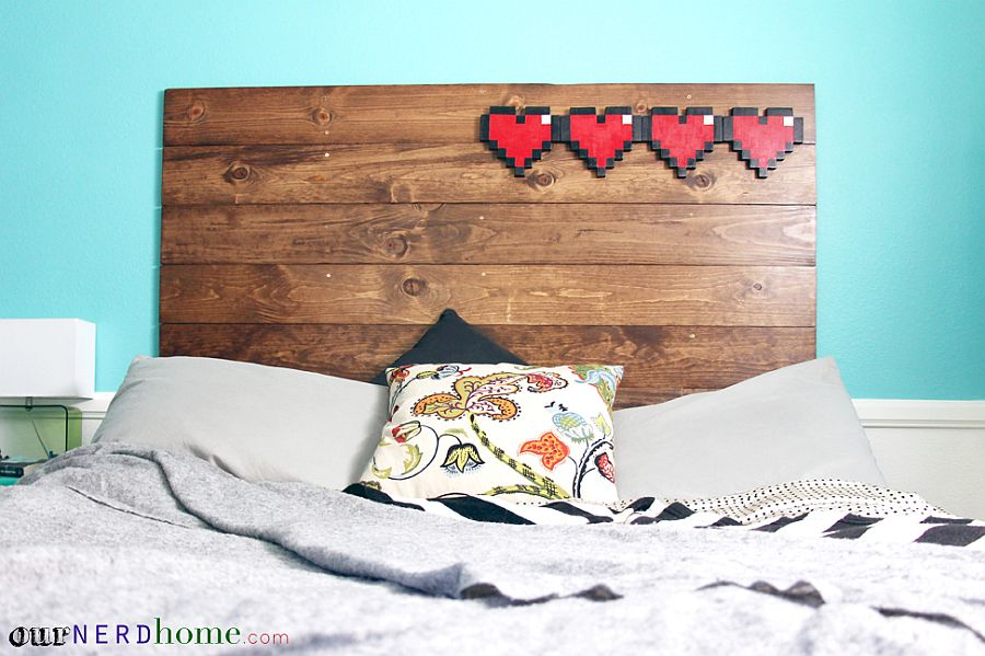 Decorate your DIY wood headboard in simple style