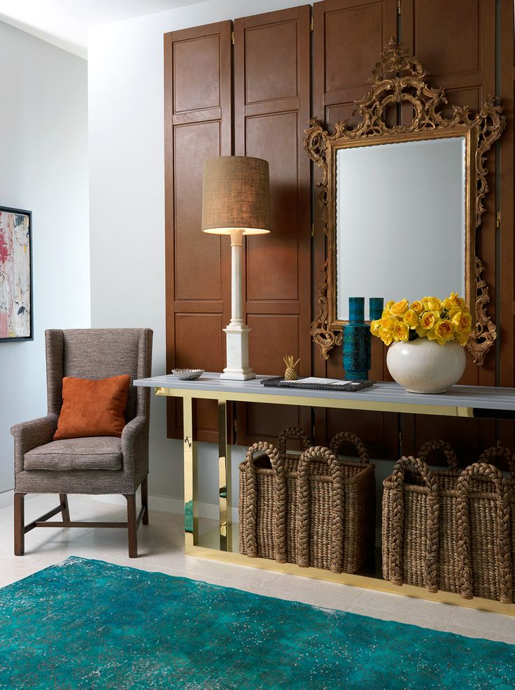 Elegant entry console table