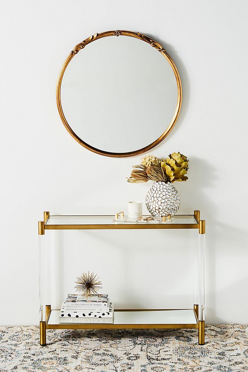 Lucite console table from Anthropologie