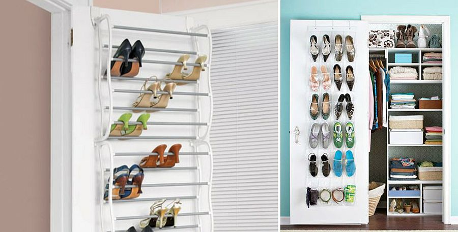 Turn the door into a cool shoe rack with ease