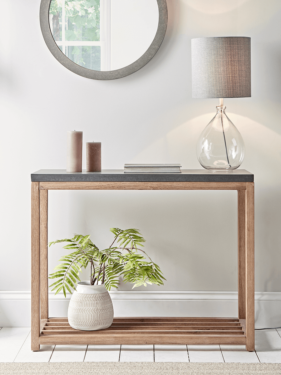 Two-level modern console table