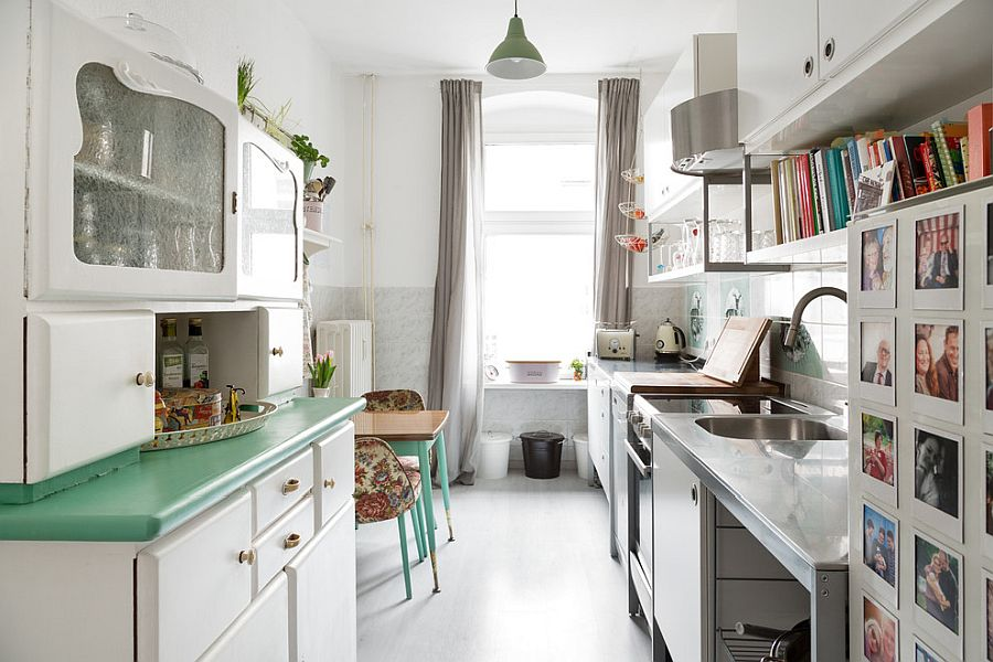 Small shabby chic kitchen makes most of the limited space on offer