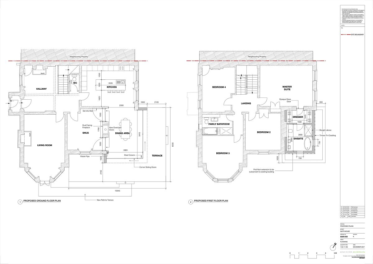 Design plan of the Gatti House after renovation