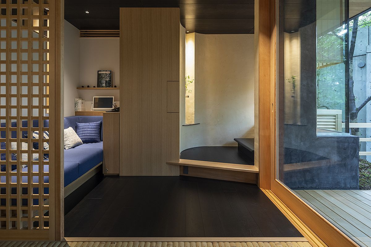 Home office and second bedroom of the Japanese house